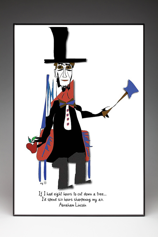 Abraham Lincoln - Custom Illustration by Curmudgeon Cards