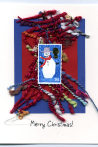 British Snowman handmade card by Curmudgeon Cards