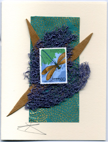 Nippon Dragonfly handmade card by Curmudgeon Cards