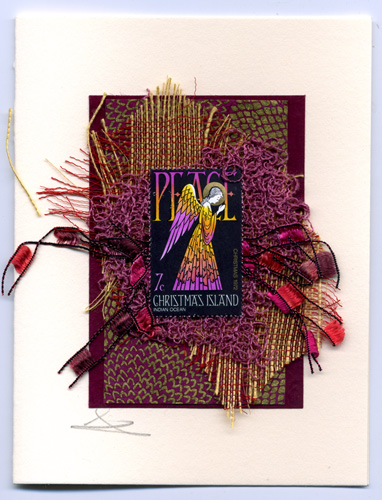 Purple and Gold Angel handmade card by Curmudgeon Cards