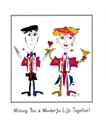 BIll and Bonnie - Wonderful Life Wedding or Engagement card by Curmudgeon Cards