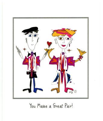 Bill and Bonnie - You Make a Great Pair - Anniversary card by Curmudgeon Cards