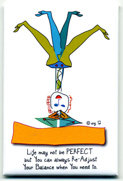 Yoga Magnet by Curmudgeon Cards