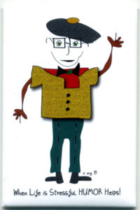 Izzy Samuel Harwin Magnet by Curmudgeon Cards