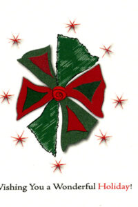 Holiday Wreath - Red & Green