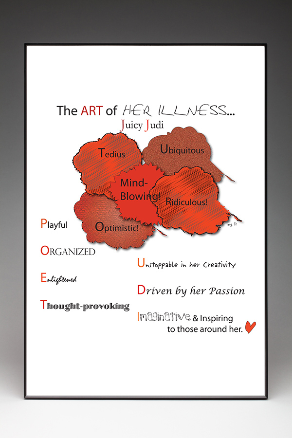 The Art of Her Illness Poster - Custom Illustration by Curmudgeon Cards